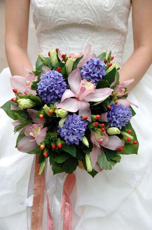 Bride et son bouquet