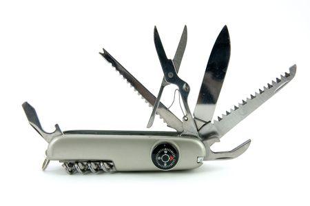 proposito: Pocket cuchillo aislados en blanco