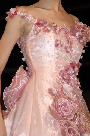 Pink Bride dress in wedding catwalk show Stock Photo - 596658