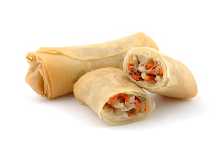 Eggroll in isolated white background