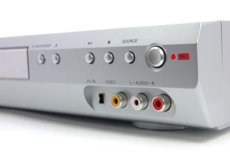 dvdrw: DVD recorder in recording Stock Photo