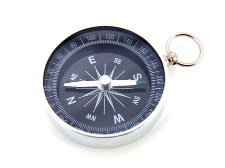 Compass close up in isolated white background