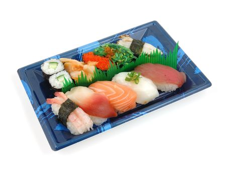 sushi plate: Sushi plate in isolated white background