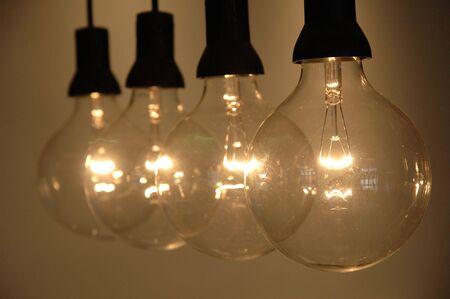 Row of light bulb with shallow DOF Stock Photo - 601101