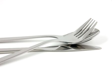 Cutlery in isolated white background photo