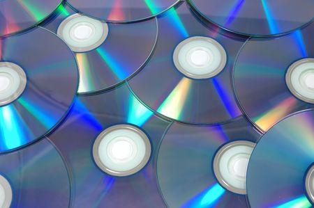 Background of dvdr discs Stock Photo