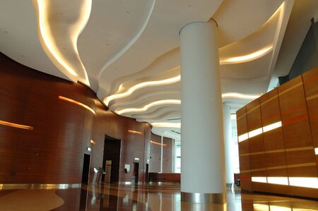 architectural lighting design: Architecture interior of a modern business building