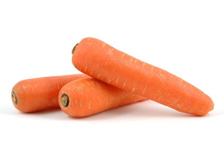 Carrots in isolated white background Stock Photo