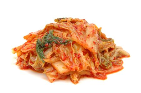 Kimchi in isolated white background