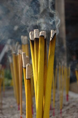 Close up of incense sticks in a chinese temple Stock Photo - 723148