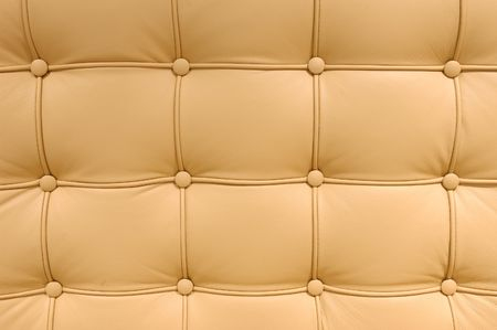 brown leather sofa: Brown Button leather pattern of a sofa Stock Photo