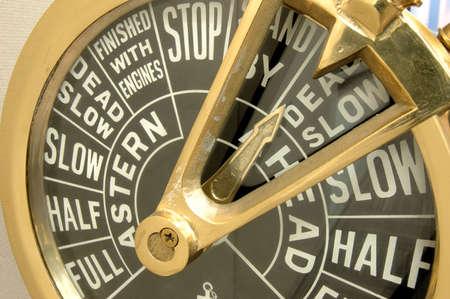 telegraaf: Close up van een schip motor telegraaf