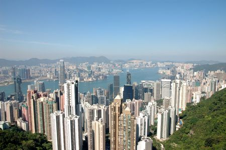 View of Hong Kong skyline from the Peak Stock Photo - 951937