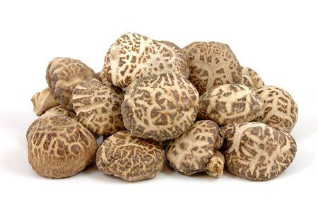 Les champignons shiitake dans isol� sur fond blanc Banque d'images