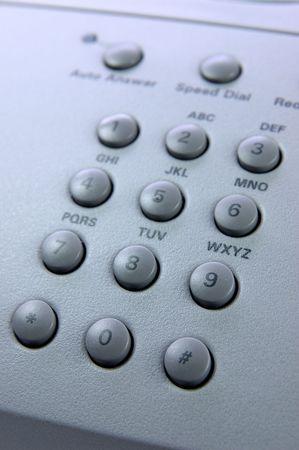 teclado num�rico: Cierre de tel�fono de teclado num�rico  Foto de archivo