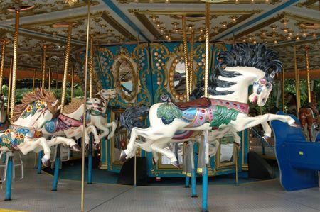 merry go round: Carousel horse on merry go round