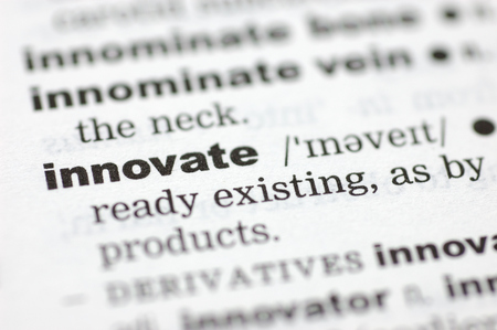 innovate: A close up of the word innovate from a dictionary