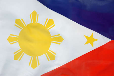 philippine: Background of a flowing Philippine flag Stock Photo