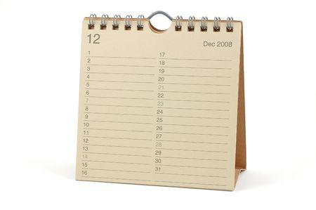 Desktop Calendar - December 2008, isolated in white Stock Photo - 2081125