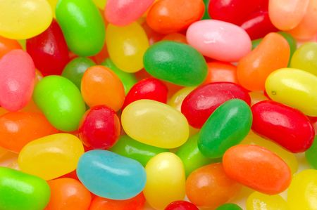 Close up of multi color jelly beans background