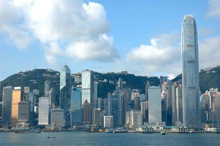Skyline of Hong Kong cityscape