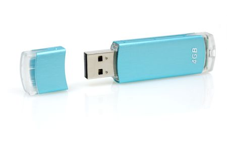 Usb flash drive with reflection in isolated white background Stock Photo - 3080306
