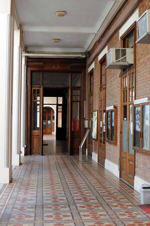 university life: Hallway in the University of Hong Kong