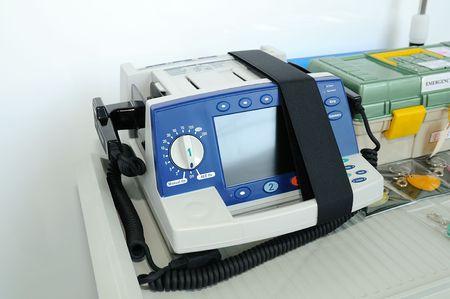 defibrillator: Emergency defibrillator Stock Photo