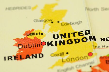 Close up of United Kingdom  on map Stock Photo - 3763967