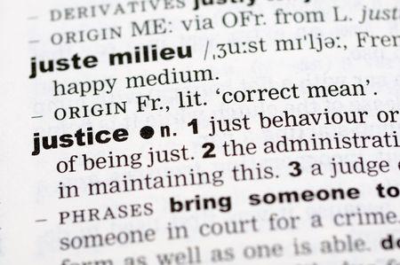 definici�n: A cerca de la palabra justicia de un diccionario