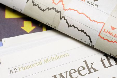 finanical: Newspaper headlines - finanical meltdown
