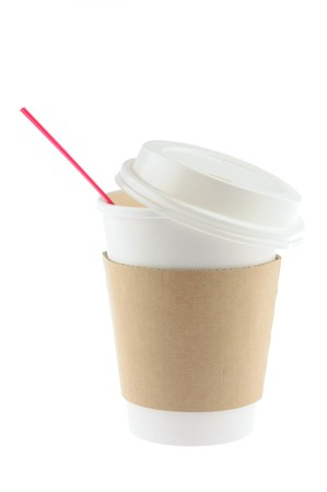 Disposable coffee cup in isolated white background Stock Photo - 4172723