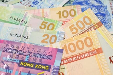 Close up of Hong Kong dollar bank notes photo