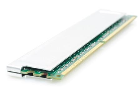 gigabytes: Computer memory module in isolated white background Stock Photo