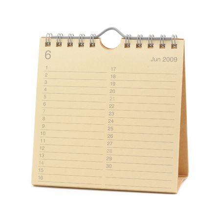 calendario escritorio: Desktop Calendar - junio de 2009, aislado en blanco