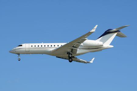 Passenger airplane in blue sky Stock Photo - 5377073