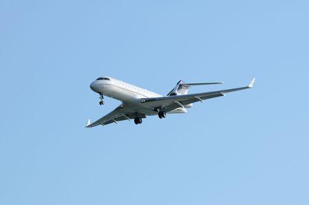 Passenger airplane in blue sky Stock Photo - 5450116