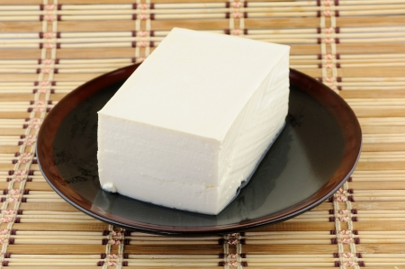 Close up of tofu on plate