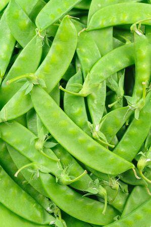 Close up of snow peas photo