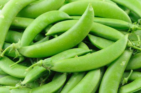 Close up of sugar snap peas photo