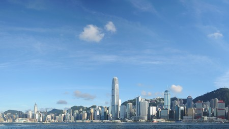 Panorama view of Hong Kong skyline Stock Photo
