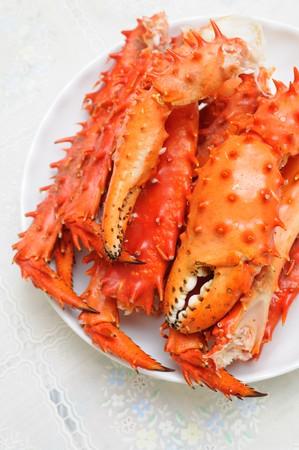 cangrejo: Placa de Alaska preparado el rey de las piernas de carbohidratos