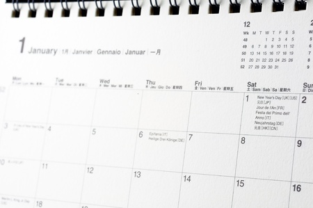 Close up of 2011 New year date on Calendar photo