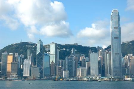 harbours: Skyline of Hong Kong cityscape