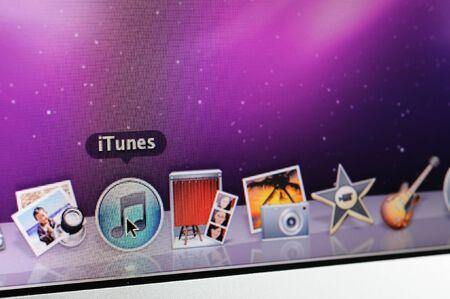 Closeup of Mac OS iTunes icon