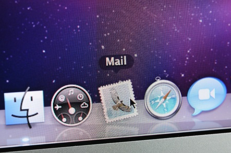 Closeup of Mac OS Mail icon Stock Photo - 9889574