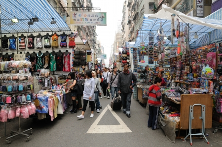 Ladies' Street, is one of the most well-known street markets in Hong Kong Editorial