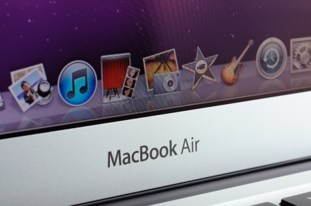 Close up of MacBook Air icons