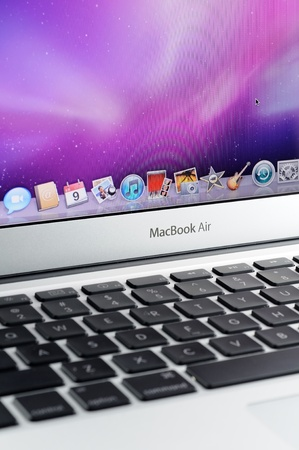 macbook: Close up of 13-inch MacBook Air