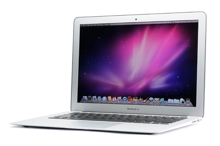 13-inch MacBook Air in isolated white background Editorial